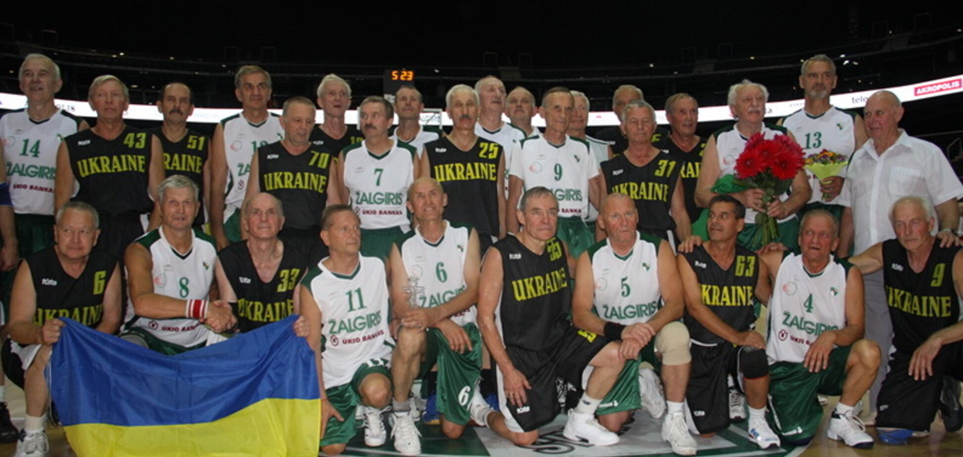 Сборная Украины, дважды обыграв россиян, выиграла ЧЕ по баскетболу среди ветеранов