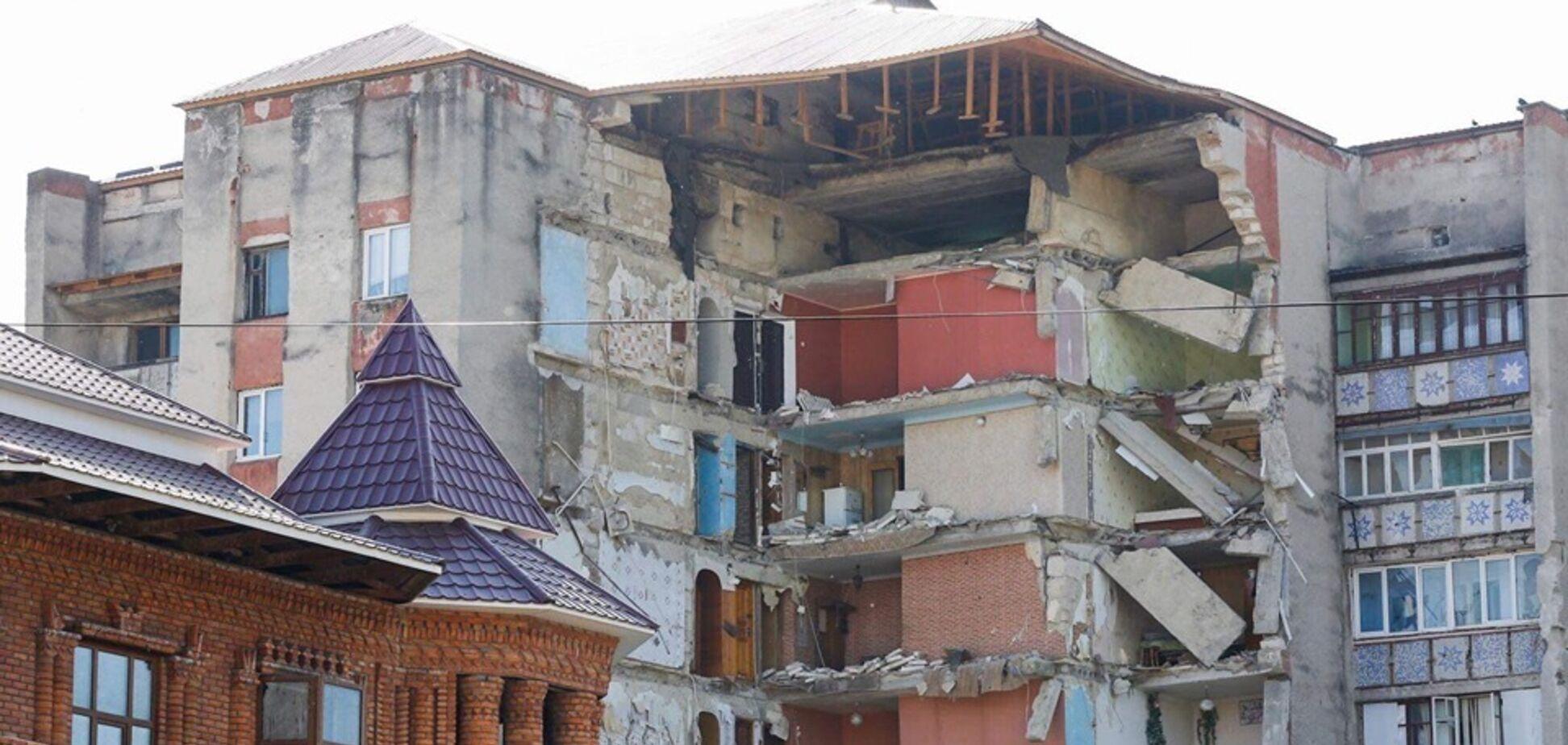В Молдове рухнула жилая 9-этажка: момент катастрофы попал на видео