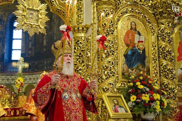 Почесний патріарх Філарет на богослужінні у Володимирському соборі Києва