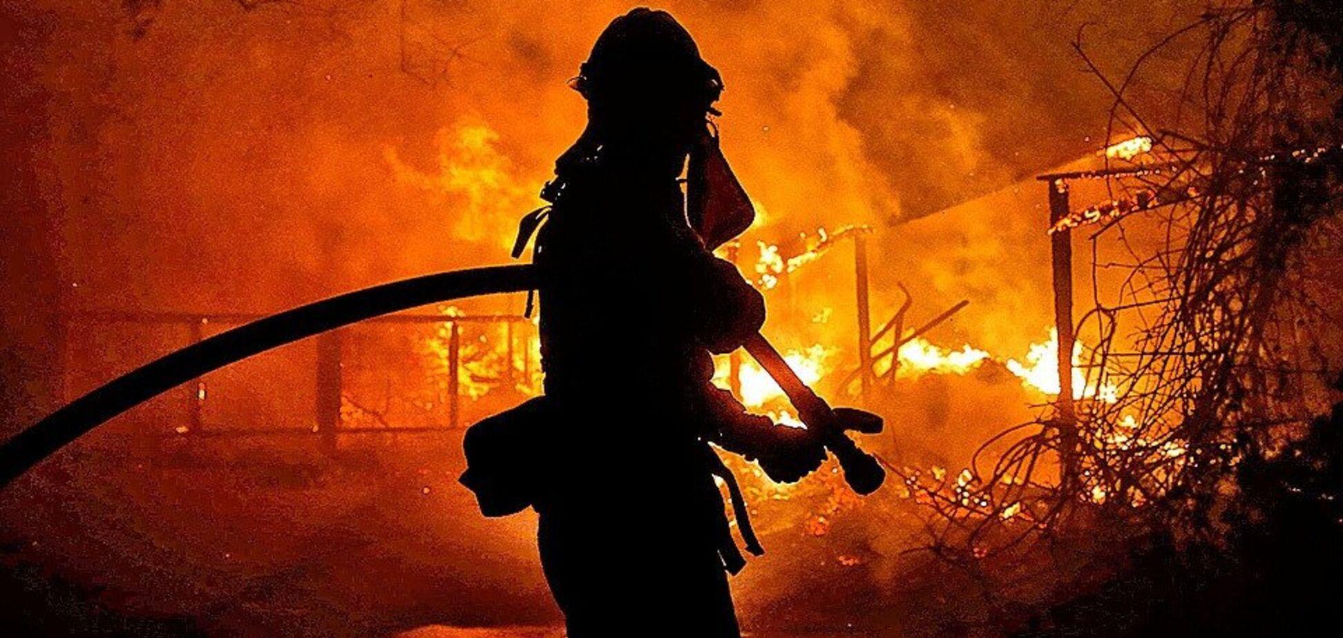 В Донецке сгорел завод: видео мощного пожара
