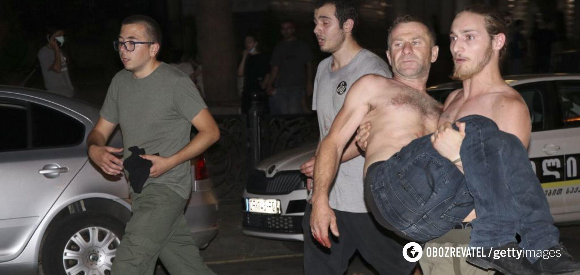 'Русофобская провокация!' Кремль отреагировал на протесты в Грузии