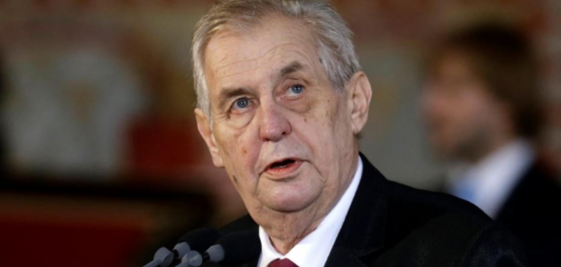 'Крим — це Росія': президент Чехії зробив новий випад у бік України