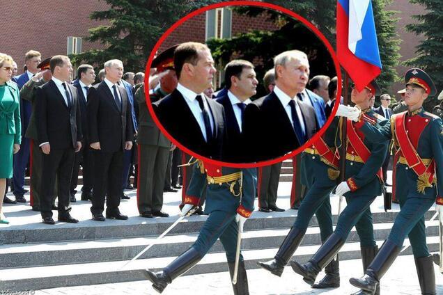 """Путин и Медведев на """"параде в честь 22 июня"""""""