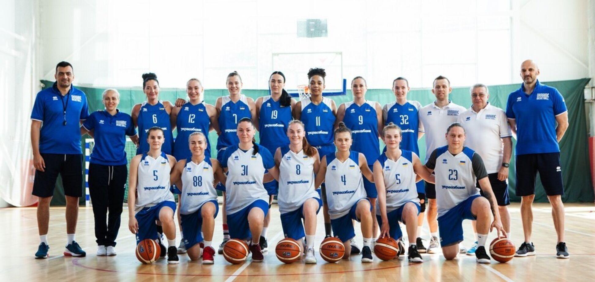 Украина назвала состав на женский Евробаскет-2019