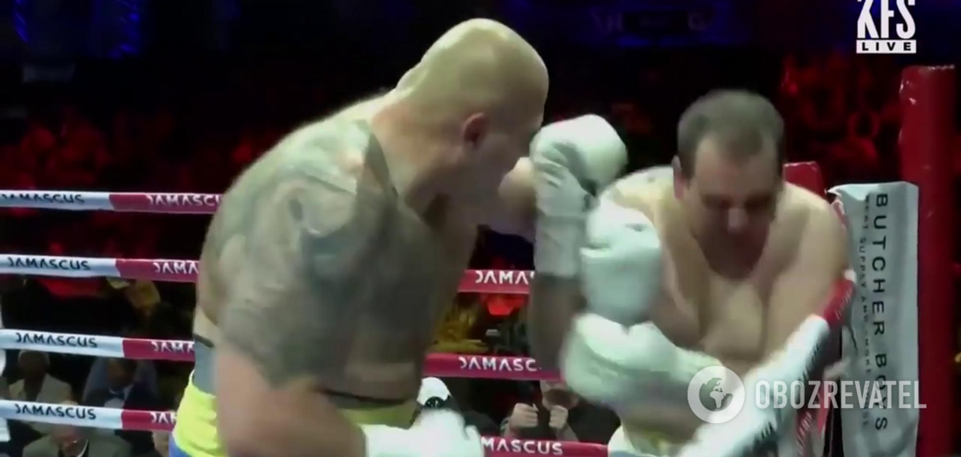 Украинский супертяж мощным нокаутом дебютировал на профи-ринге