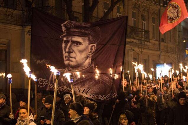 Смолоскипна хода на честь Степана Бандери, Київ