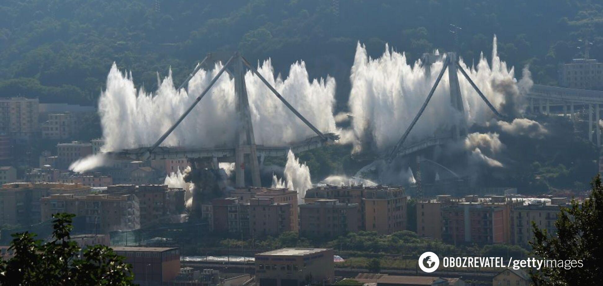 В Италии взорвали мост, на котором погибли 43 человека. Фото и видео