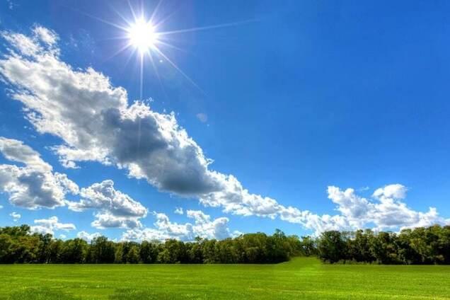 Солнце с облаками