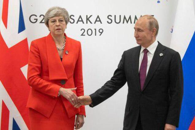 Тереза Мей і Володимир Путін на саміті G20