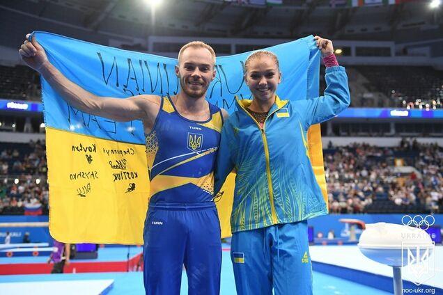 Українські гімнасти зробили золотий дубль на Європейських іграх