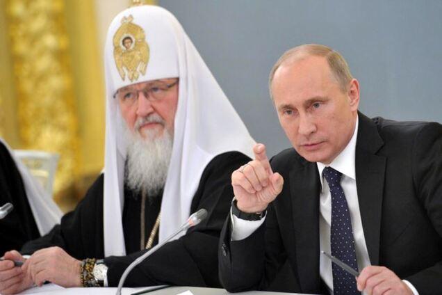 Патриарх РПЦ Кирилл и глава России Владимир Путин