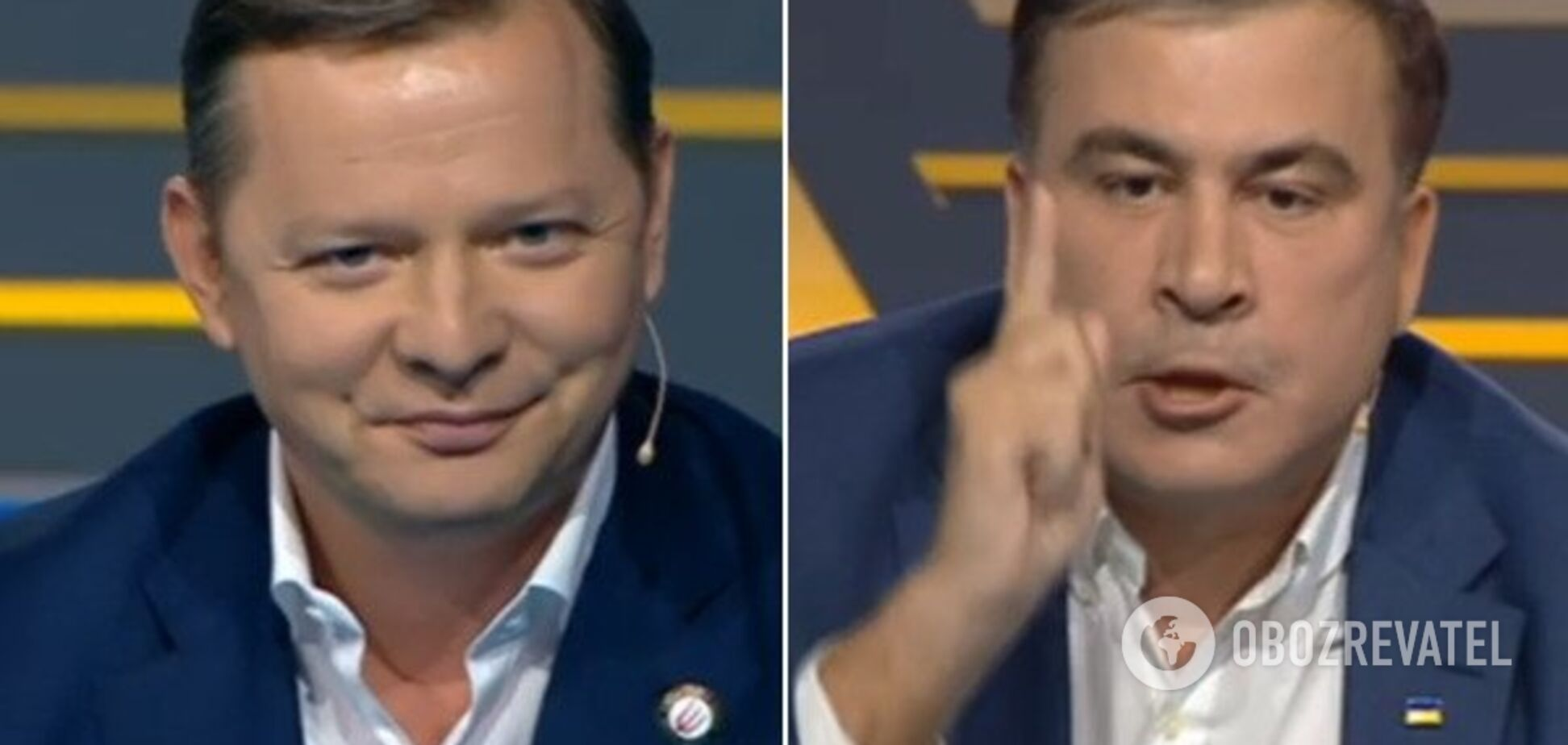 Саакашвили и Ляшко сцепились в прямом эфире: видео перепалки