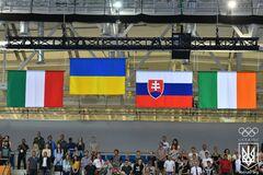РосТВ не удалось заглушить гимн Украины на Европейских играх - видеофакт