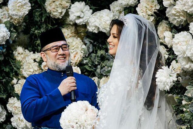 Мухаммад V и Оксана Воеводина - свадьба