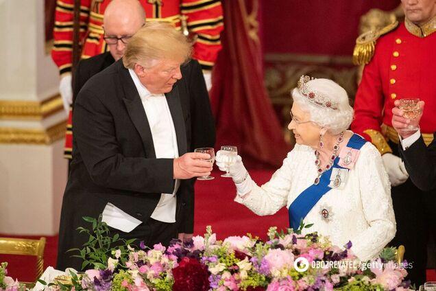 Дональд Трамп і Єлизавета II