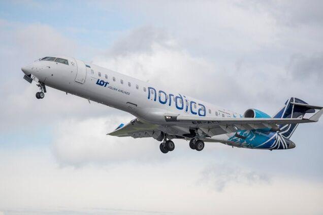 самолет авиакомпании Nordica