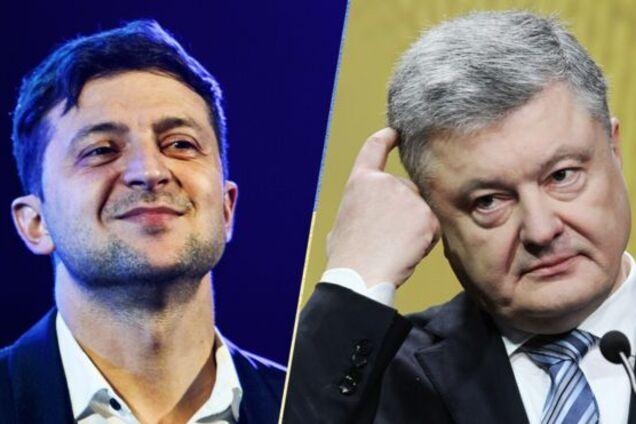 Володимир Зеленський і Петро Порошенко