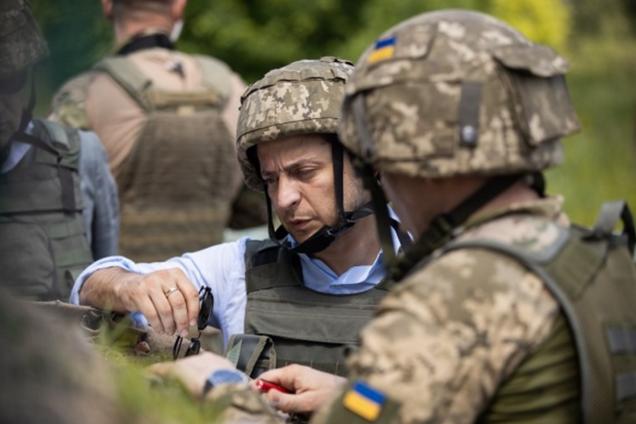 Володимир Зеленський у зоні проведення Операції Об'єднаних сил