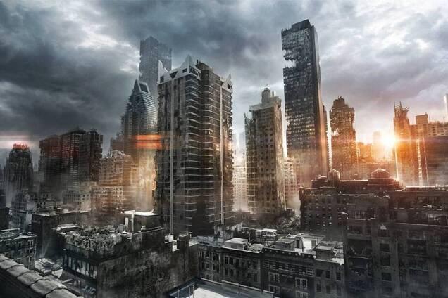 Разрушенный мегаполис, коллаж
