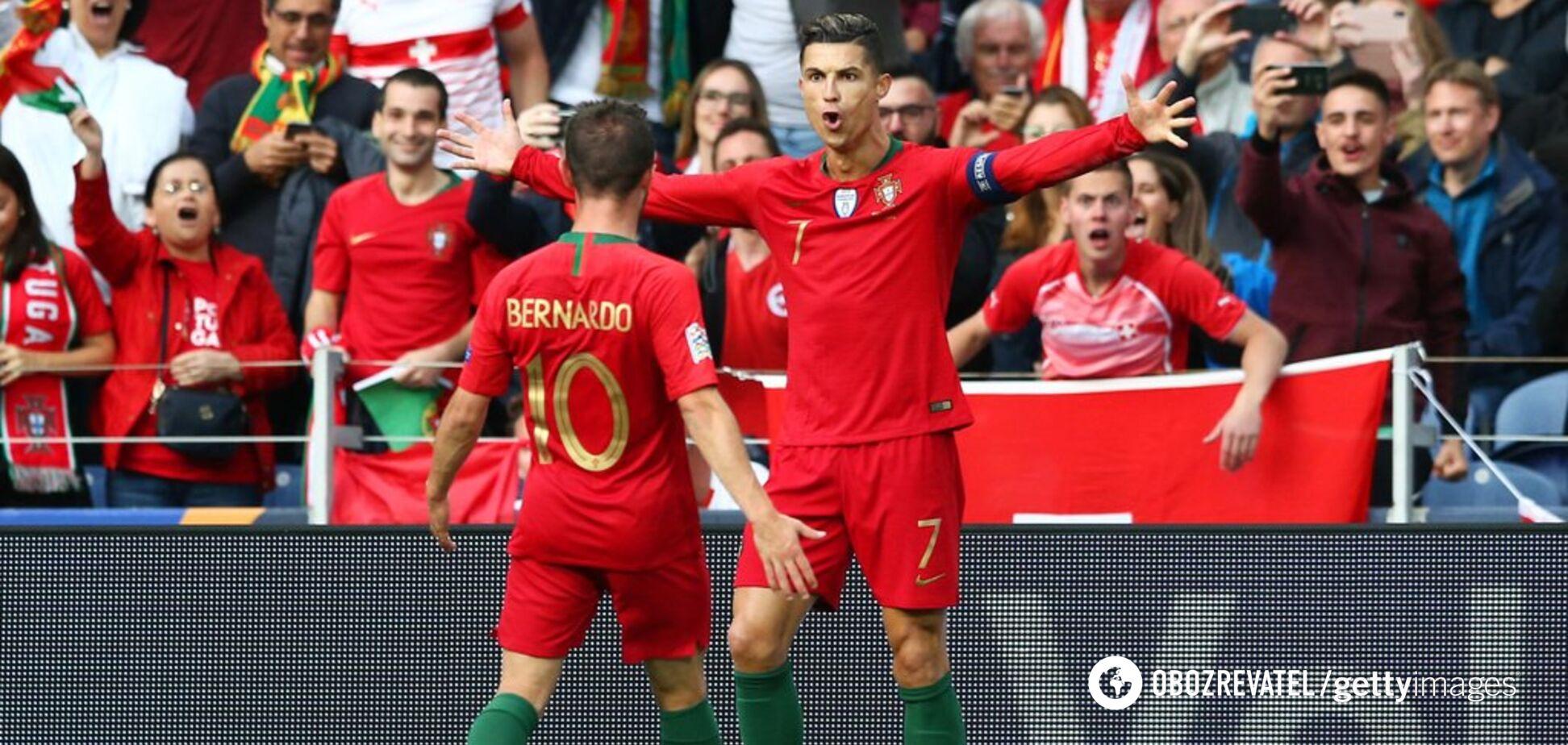 Роналду забил фантастический гол в полуфинале Лиги наций