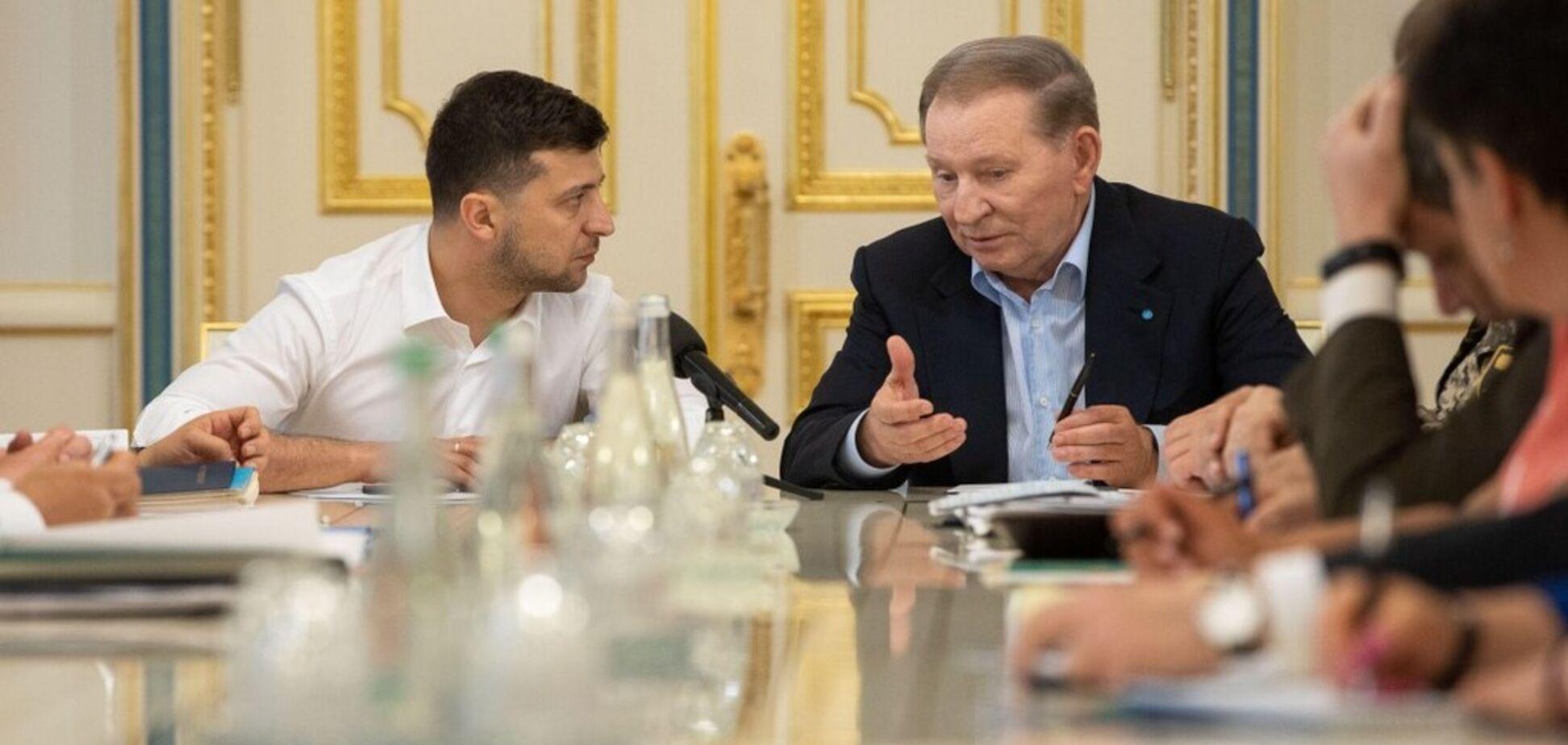 Владимир Зеленский и Леонид Кучма