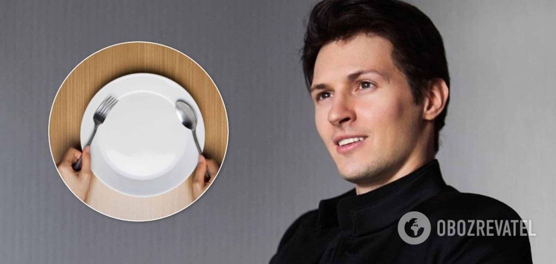 6 дней только на воде: Павел Дуров отказался от еды