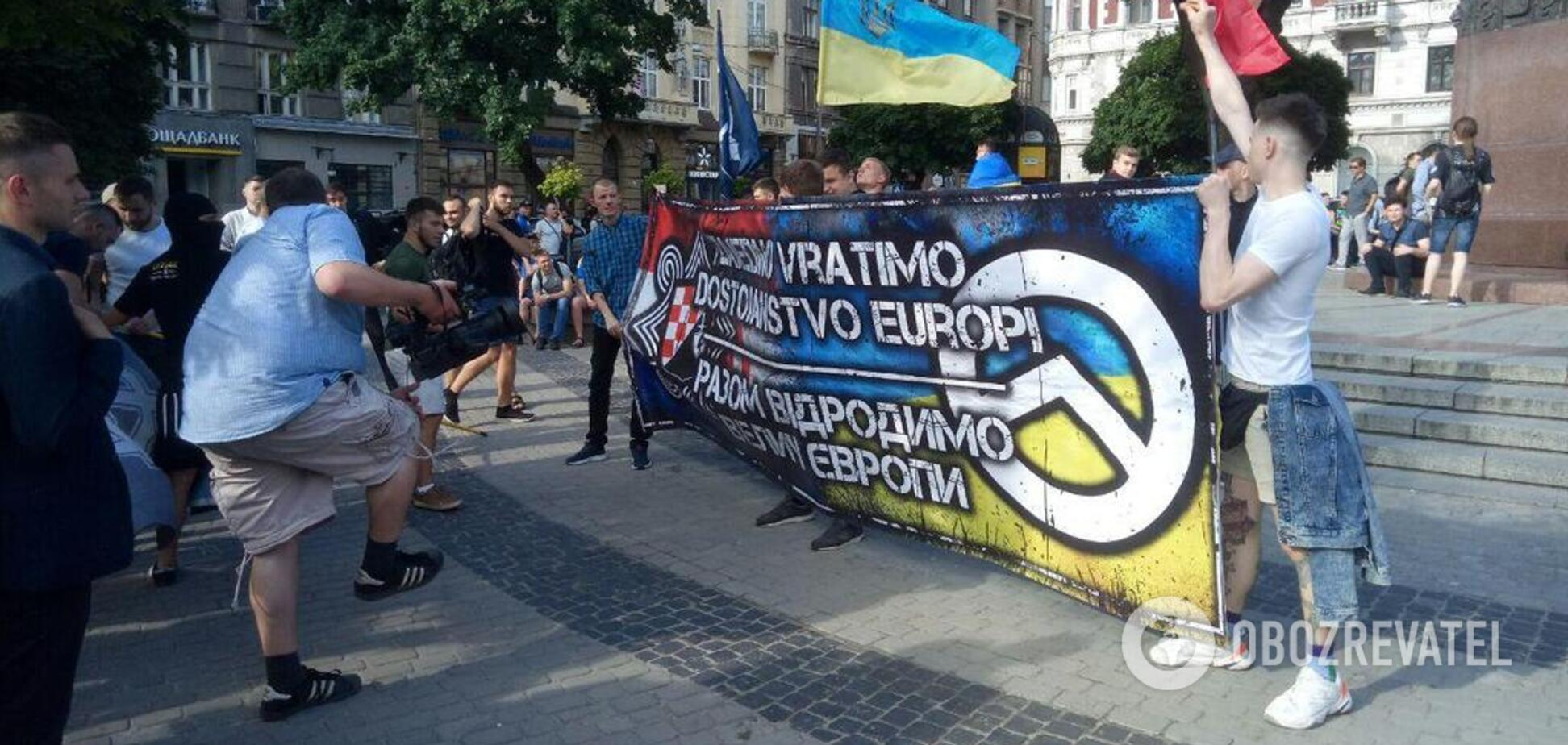 Против пропаганды Путина: во Львове прошел фанатский марш