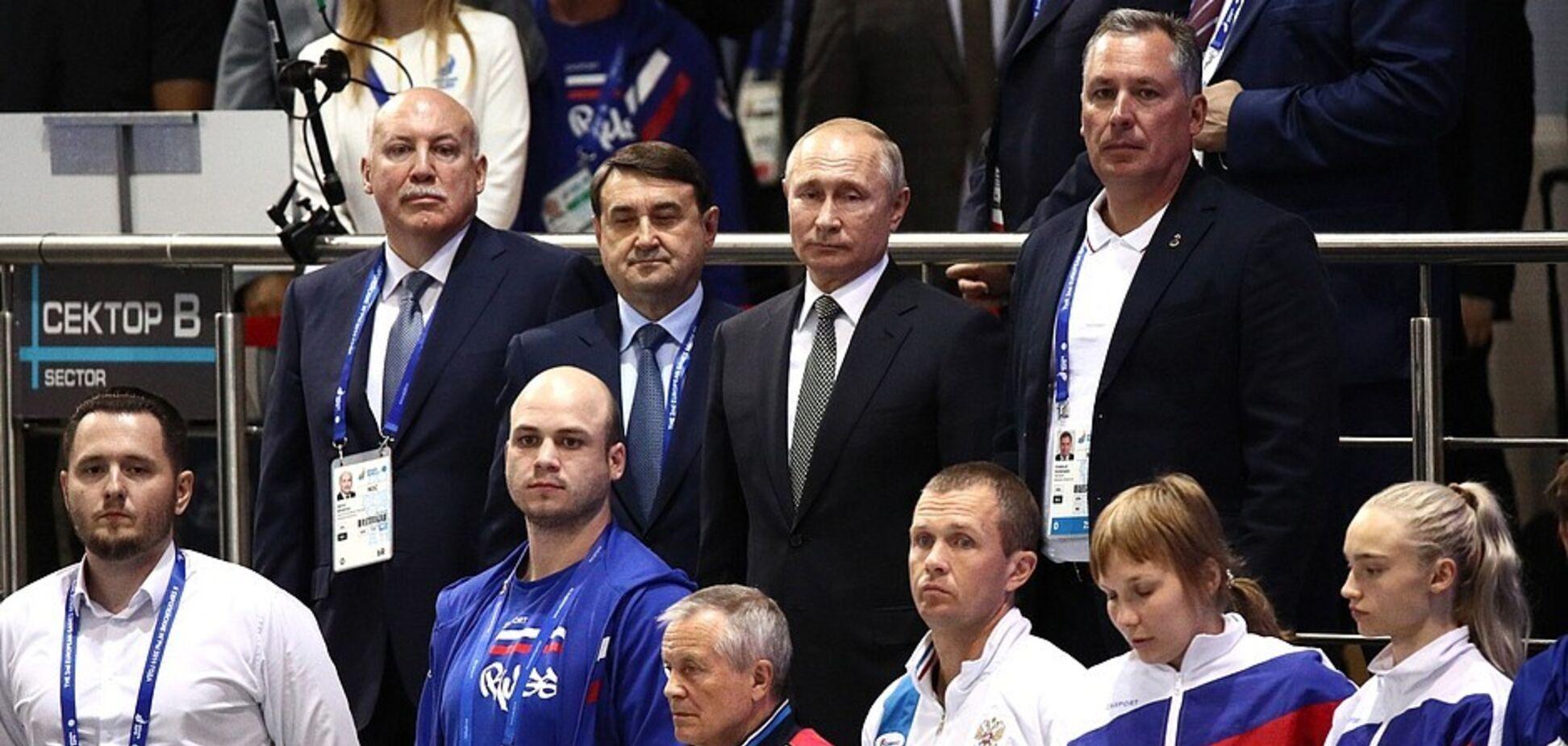 Европейские игры: появилось видео реакции Путина на гимн Украины