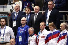 Європейські ігри: з'явилося відео реакції Путіна на гімн України
