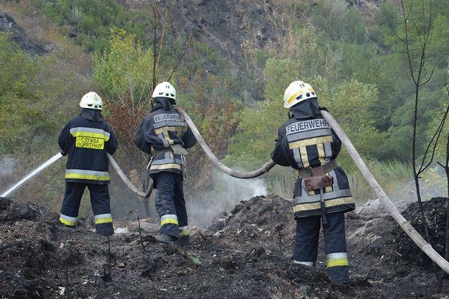 Ликвидация пожара под Днепром