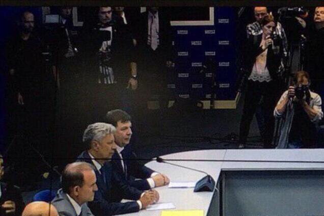 Бойко и Медведчук на встрече с Медведевым