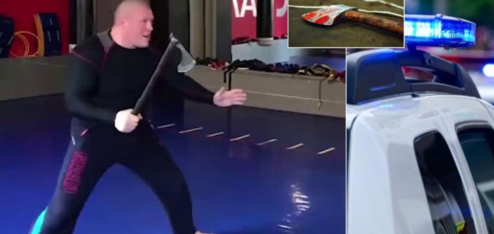 Российский боец ММА всадил топор в партнера и снял это на видео