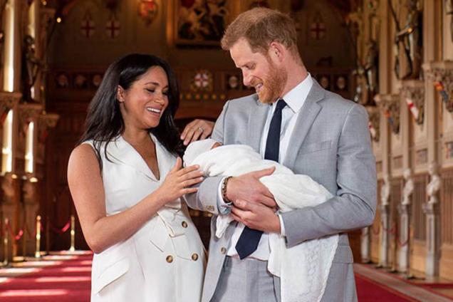 Меган Маркл і принц Гаррі з сином