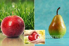 'Яблуко або груша': вчені розповіли, що захищає від хвороб серця