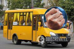 Кровь изо рта и носа: в Днепре подрались водитель маршрутки и пассажир