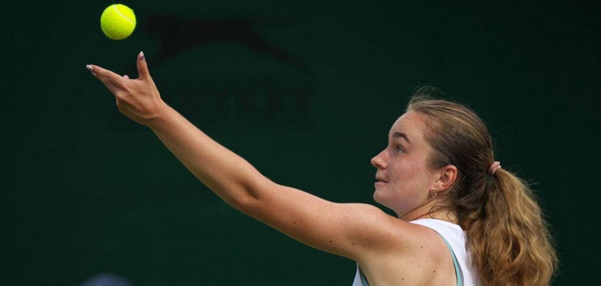 Украинка вышла в финал юношеского Wimbledon, разгромив главную фаворитку
