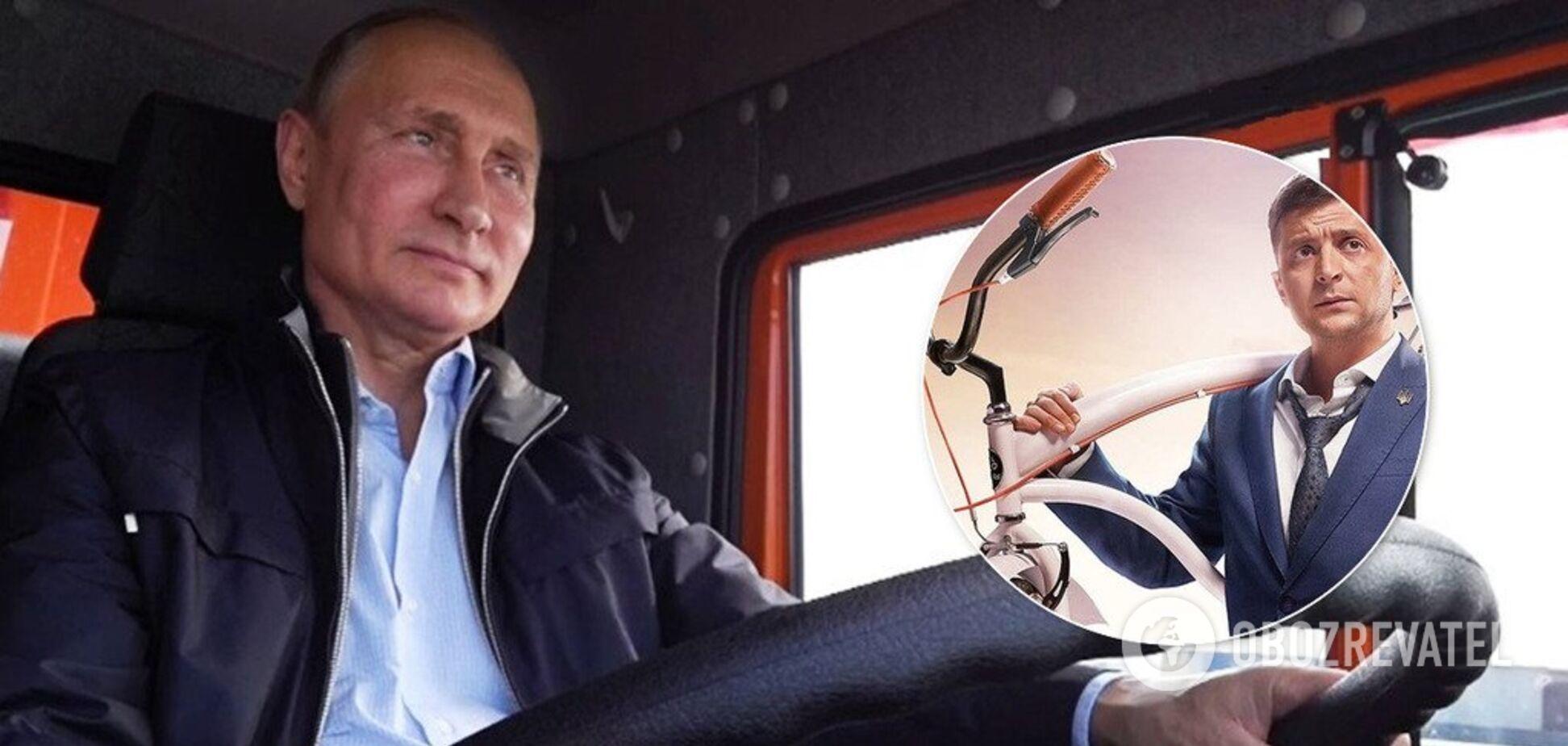 'Как Путин на КамАЗе!' Зеленского уличили в подражании главе России