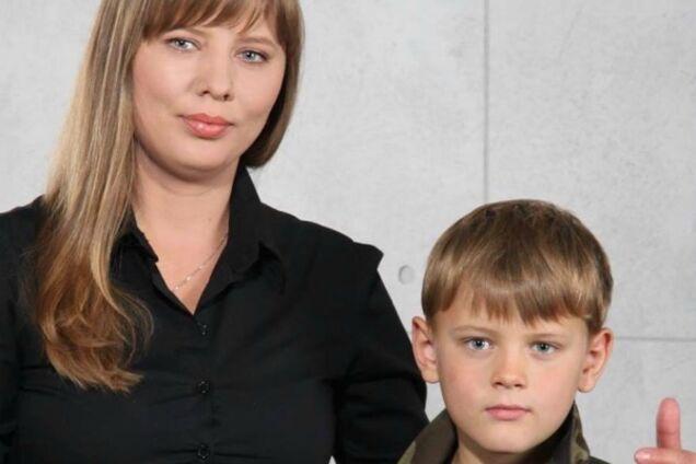 Олена Карпюк із сином