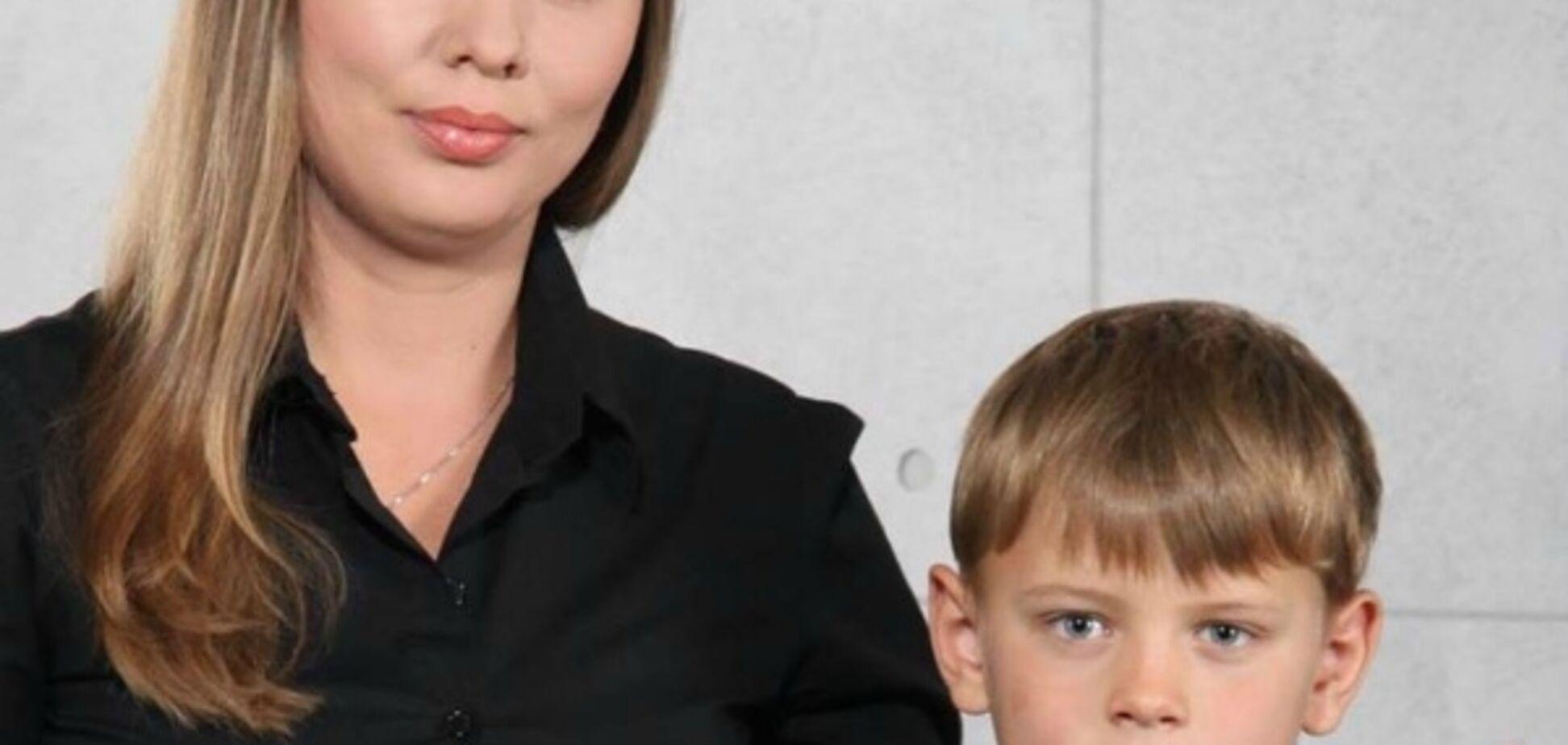 Елена Карпюк с сыном
