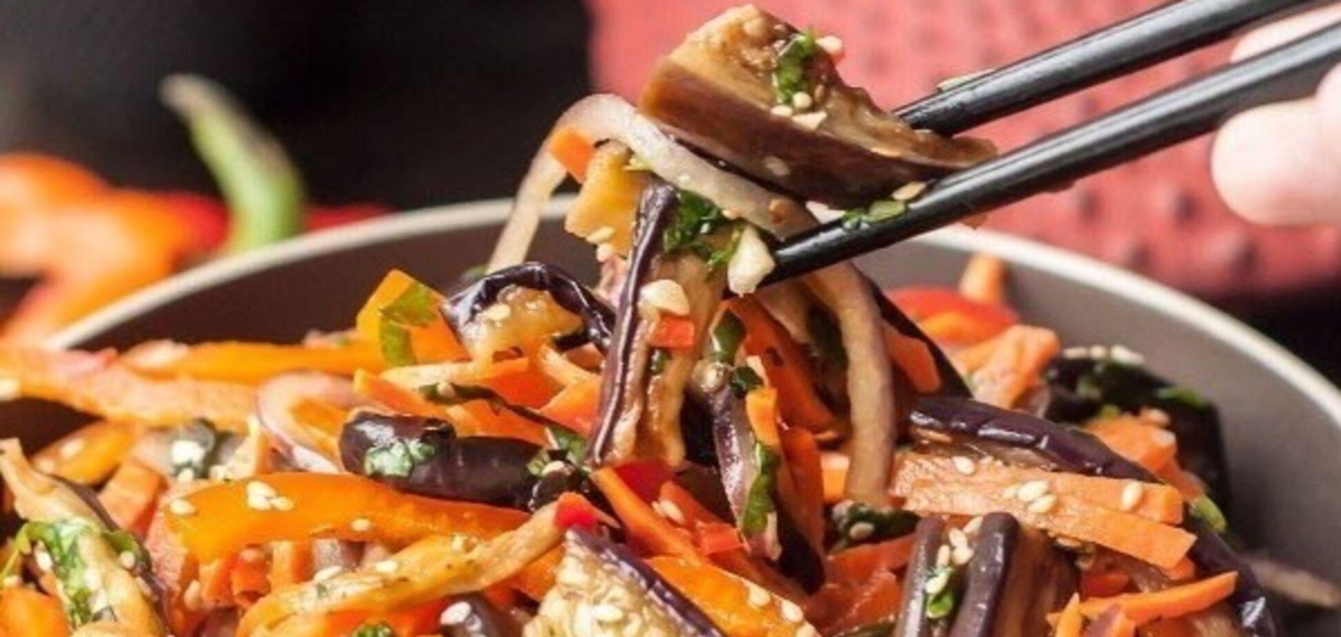 Рецепт салату з баклажанів по-корейськи, смак якого приємно здивує