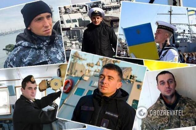 Пленные украинские моряки