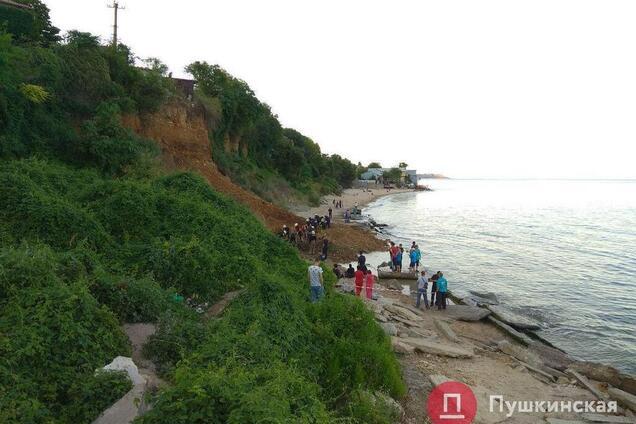 Сход оползня в Одессе