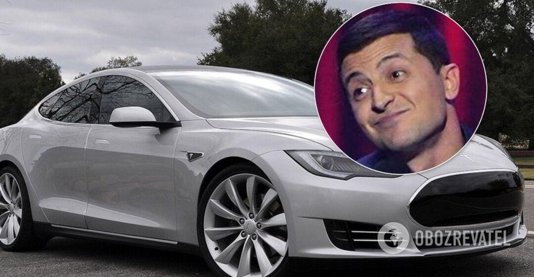 Зеленський звернувся до українців за кермом елітного електрокару Tesla (відео)