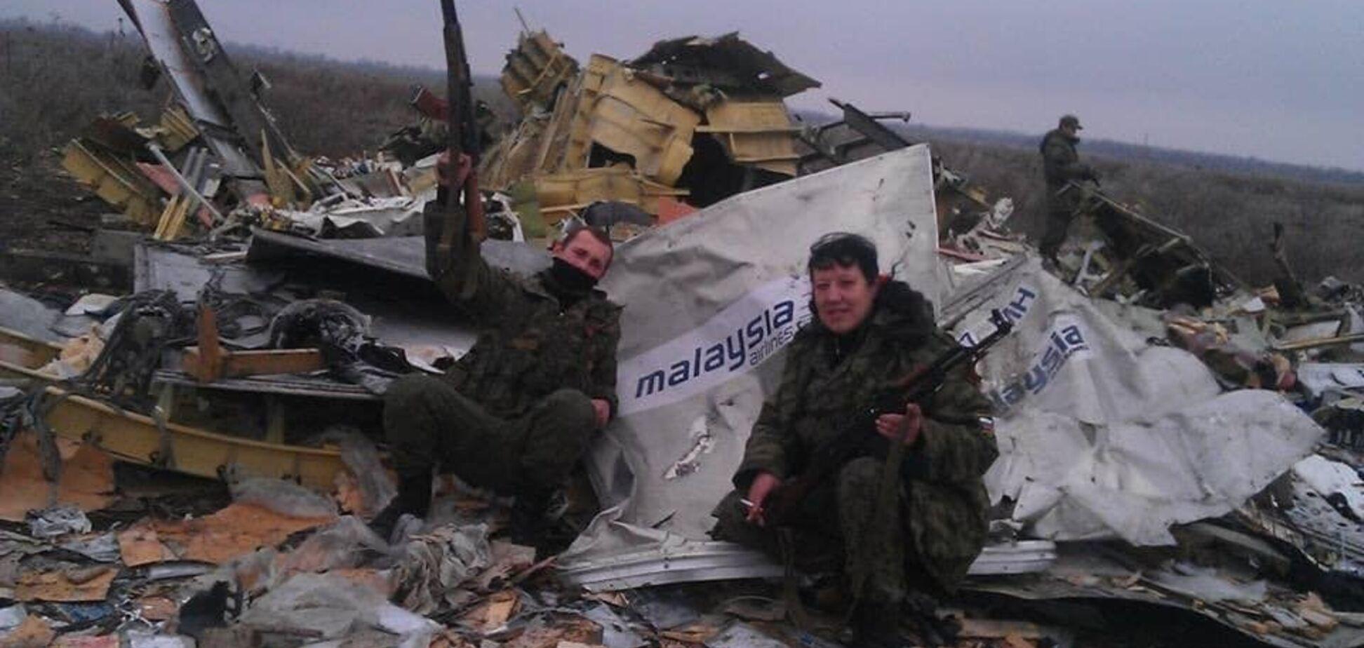Российские террористы на обломках малайзийского Boeing