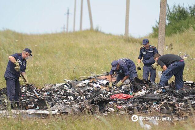 Місце катастрофи Боїнга на Донбасі