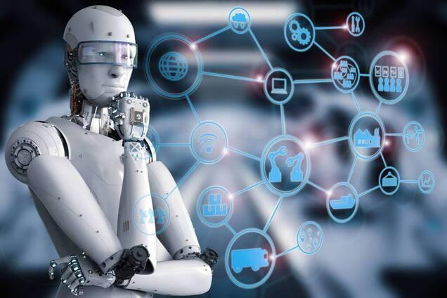 Робот, искусственный интеллект. Иллюстрация