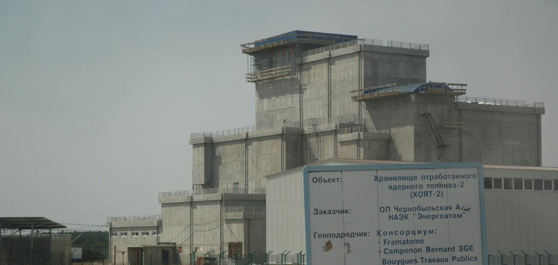 Будівництво сховища в Чорнобилі
