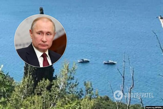 """Возле """"дачи Путина"""" в Крыму засветились российские корабли"""