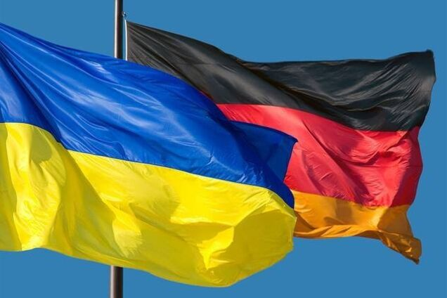 Иллюстрация. Флаги Украины и Германии