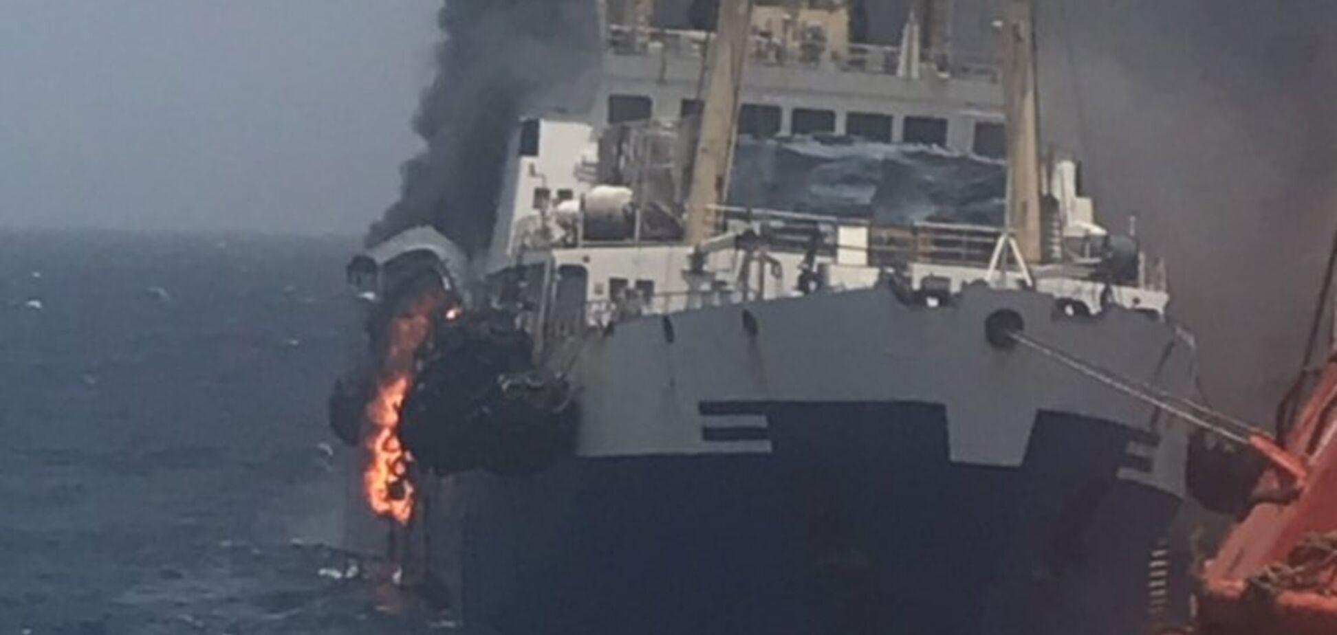 Біля берегів Африки загорілося українське судно: зник моряк